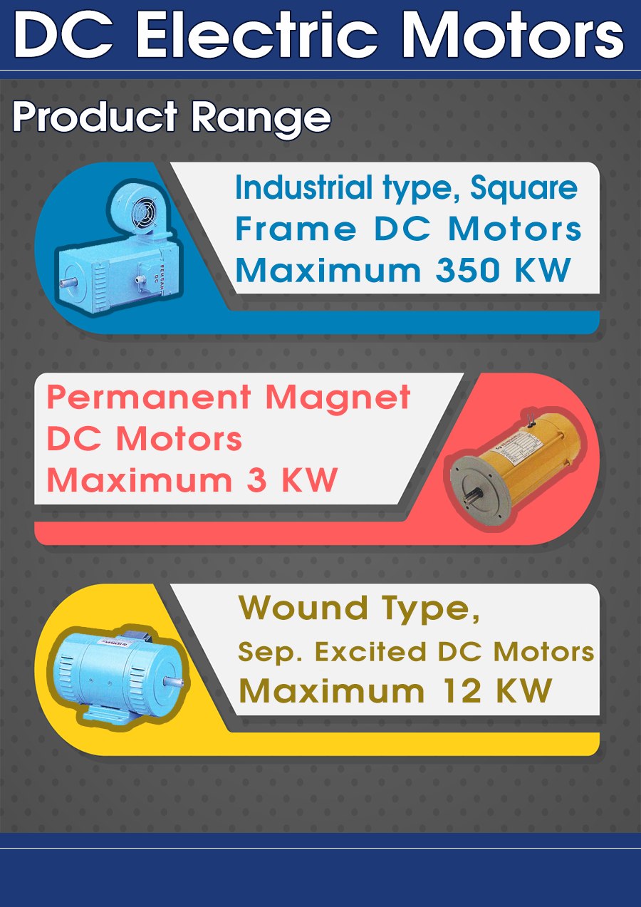 DC Electric Motors Product Range